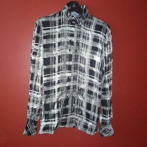 COMO Plaid Shirt Sz 8